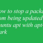 How to stop a package from being updated in ubuntu apt with apt-mark