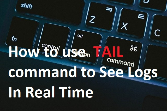 View logs in real time with tail command