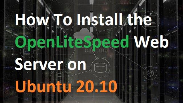 install openlitespeed php mariadb
