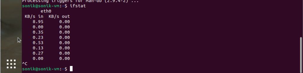 How to install ifstat in Ubuntu 21.04 linux?