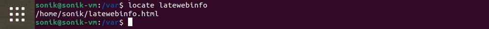 searching with locate in ubuntu 21.04