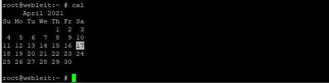 cal command linux, calendar