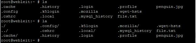 la command in linux