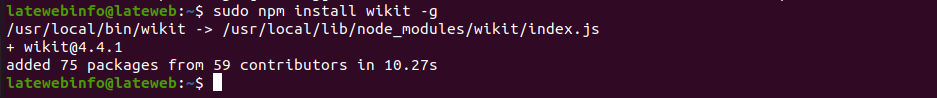 how to install wikit in ubuntu linux?