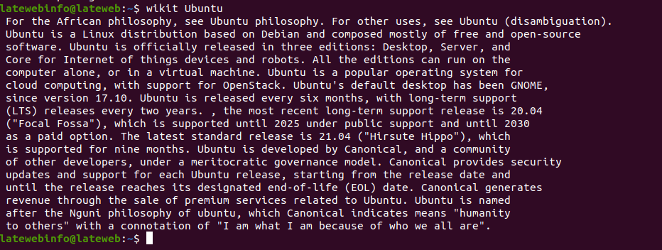 How to use Wikipedia in the terminal?