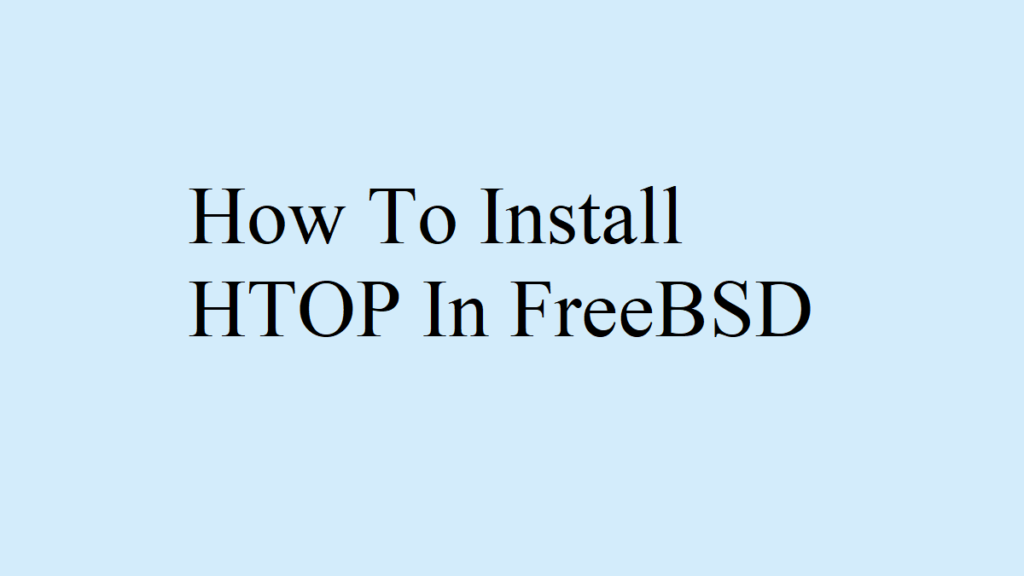 freebsd install htop
