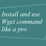 Install and use Wget command like a pro