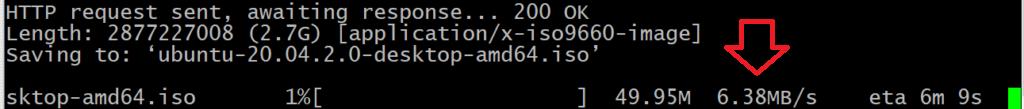 Checking download speed using wget cli download tool in Ubuntu 21.04 Linux | lateweb.info