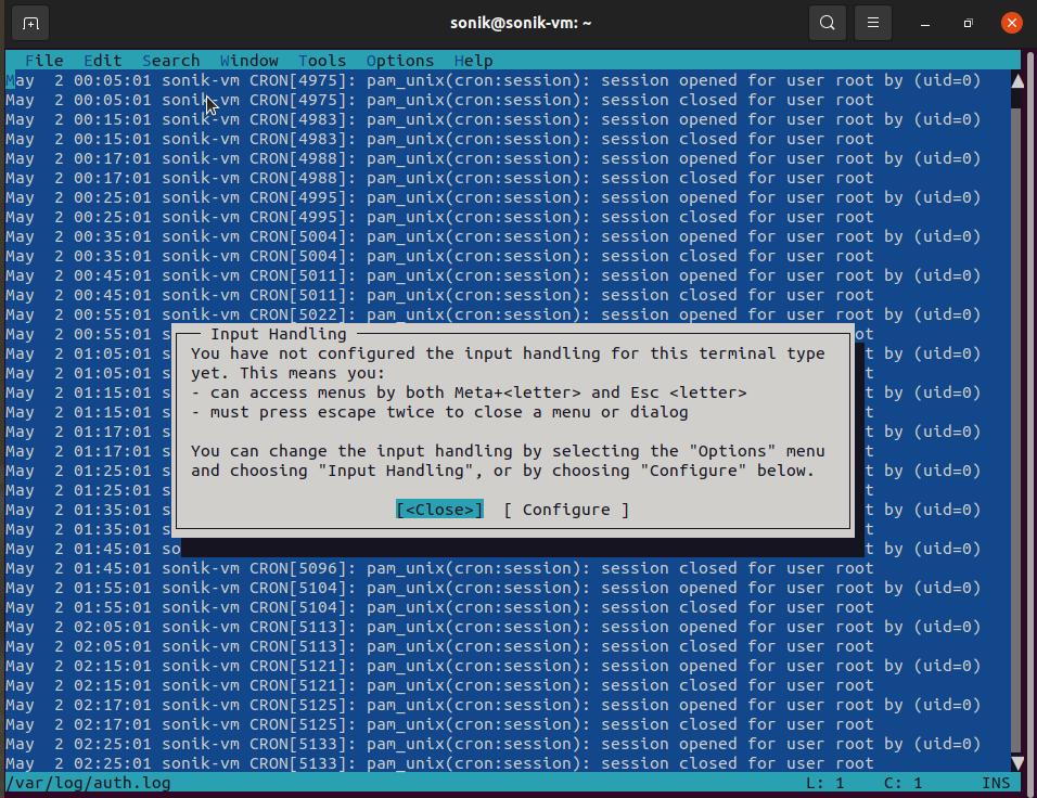 tilde text editor screenshot in ubuntu 21.04 Linux | lateweb.info