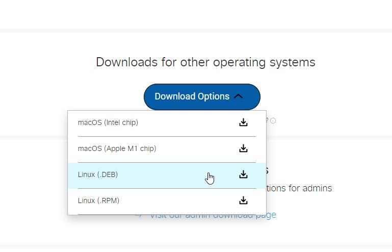 Downloading Webex .deb in Ubuntu 21.04 | lateweb.info
