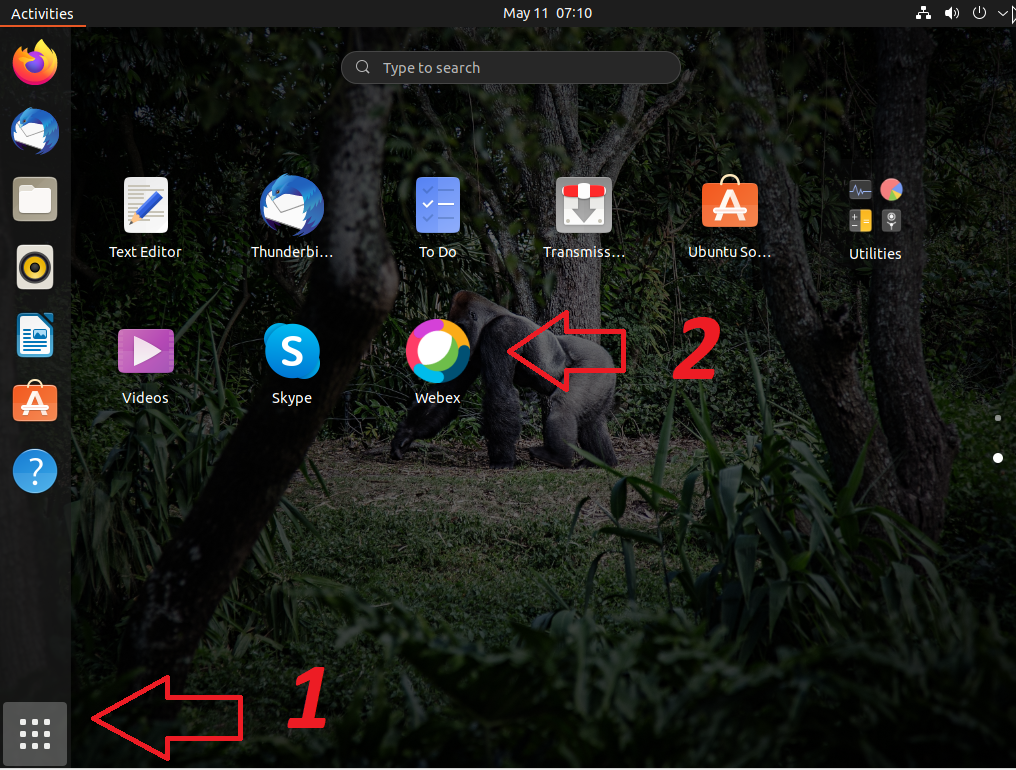 starting webex from the gui on Ubuntu 21.04 | lateweb.info