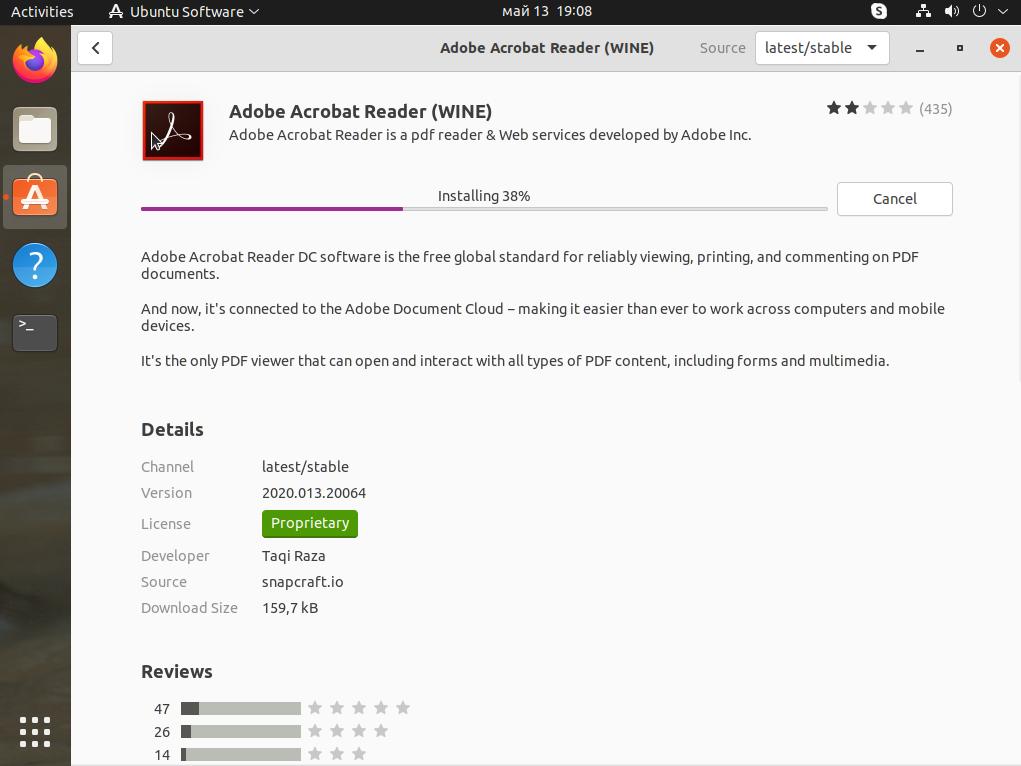 How to install adobe acrobat reader in Ubuntu 21.04 Linux ? | lateweb.info