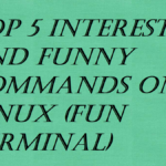 Top 5 Interesting and Funny Commands on Linux (Fun Terminal)